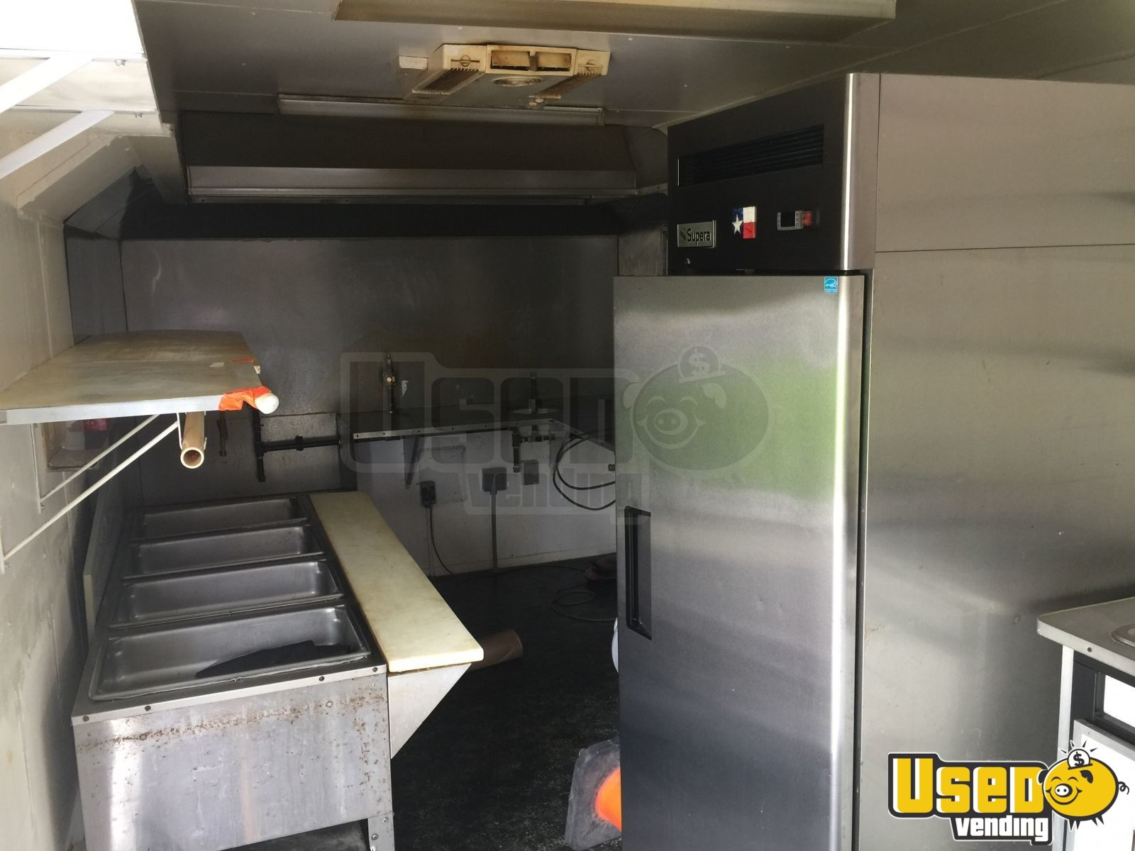 2008 Food Concession Trailer Kitchen Food Trailer Exhaust Hood Texas for Sale - 12