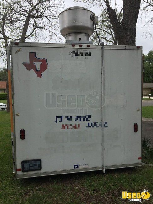 2008 Food Concession Trailer Kitchen Food Trailer Exterior Customer Counter Texas for Sale