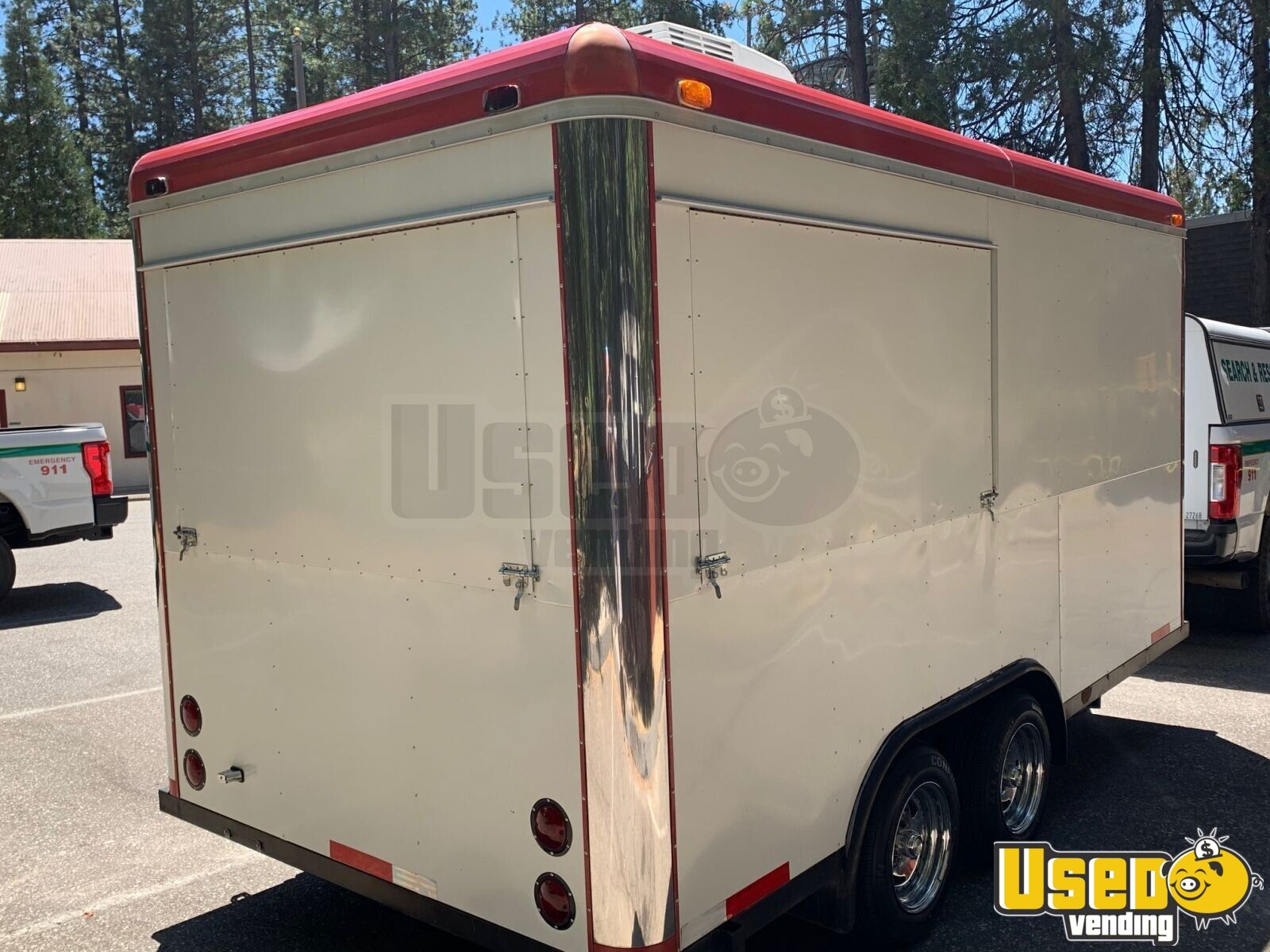 2008 Sanchez Trailers 7x14 All-purpose Food Trailer Stainless Steel Wall Covers California for Sale - 5