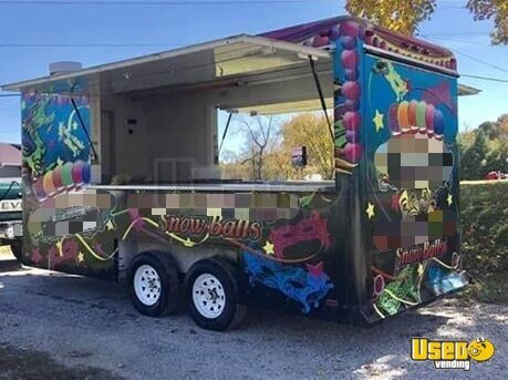 2008 Shaved Ice Concession Trailer Snowball Trailer Oklahoma for Sale