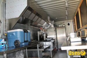 2008 Shipping Container Food Concession Trailer Kitchen Food Trailer Prep Station Cooler Kansas for Sale