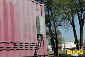 2008 Shipping Container Food Concession Trailer Kitchen Food Trailer Reach-in Upright Cooler Kansas for Sale