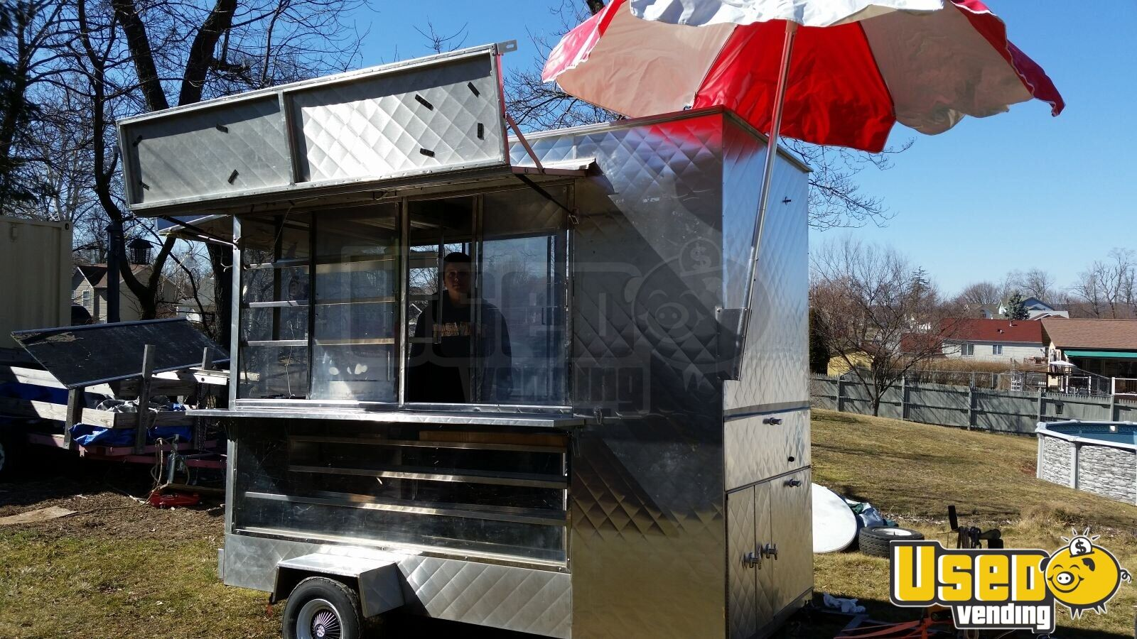 Modernistisk Stainless Food Concession Trailer | Small Concession Trailer for BR34