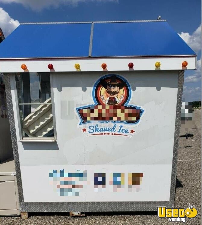 2010 Shaved Ice Concession Trailer Snowball Trailer Cabinets Texas for Sale - 5