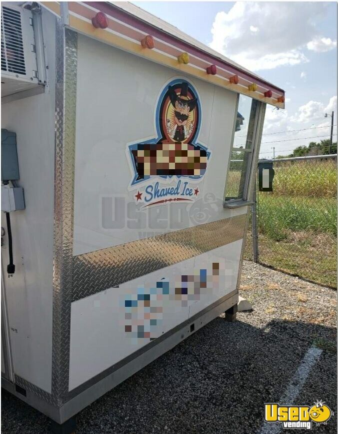 2010 Shaved Ice Concession Trailer Snowball Trailer Concession Window Texas for Sale - 3