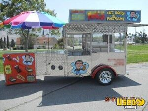 6.5' x 15'  All Stainless Hot Dog Cart Trailer for Sale in California!!!
