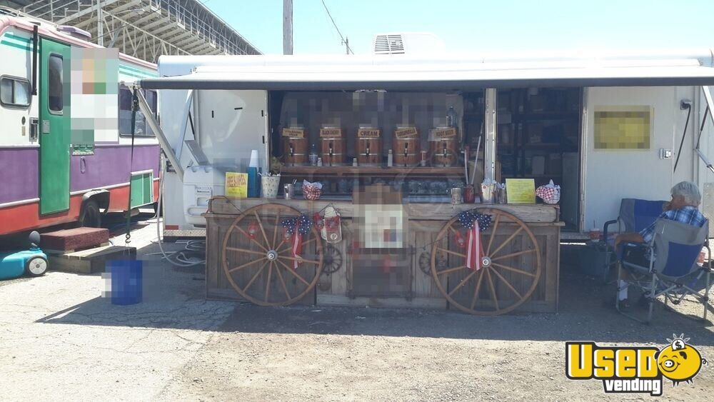 2011 Sharp Trailer Full 110 V Setup And Electric Awniing Beverage - Coffee Trailer Cabinets Oklahoma for Sale - 4