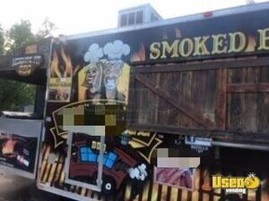 2012 Barbecue Concession Trailer Barbecue Food Trailer Exterior Customer Counter Colorado for Sale