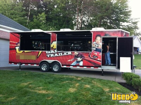 2012 Custom Concessions Party / Gaming Trailer Pennsylvania Diesel Engine for Sale