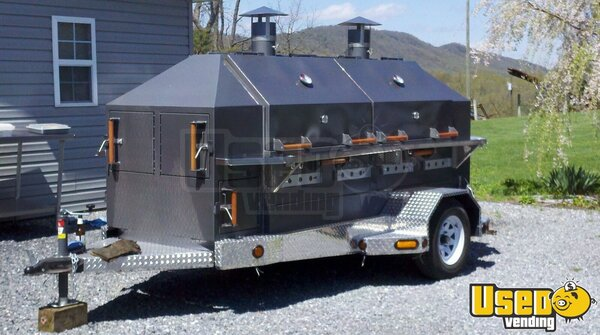 2012 Custom Open Bbq Smoker Trailer Virginia for Sale