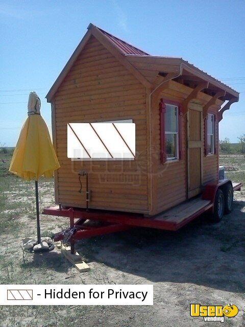 Log Cabin Concession Used Mobile Kitchen Mobile