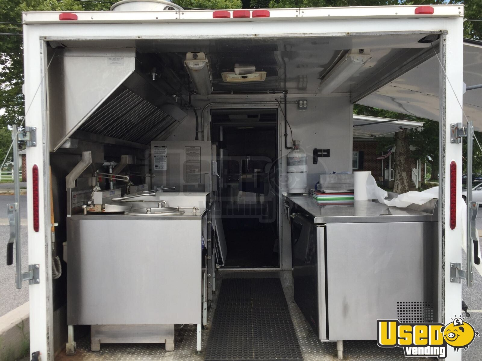 2012 Food Concession Trailer Kitchen Food Trailer Stainless Steel Wall Covers Pennsylvania for Sale - 4