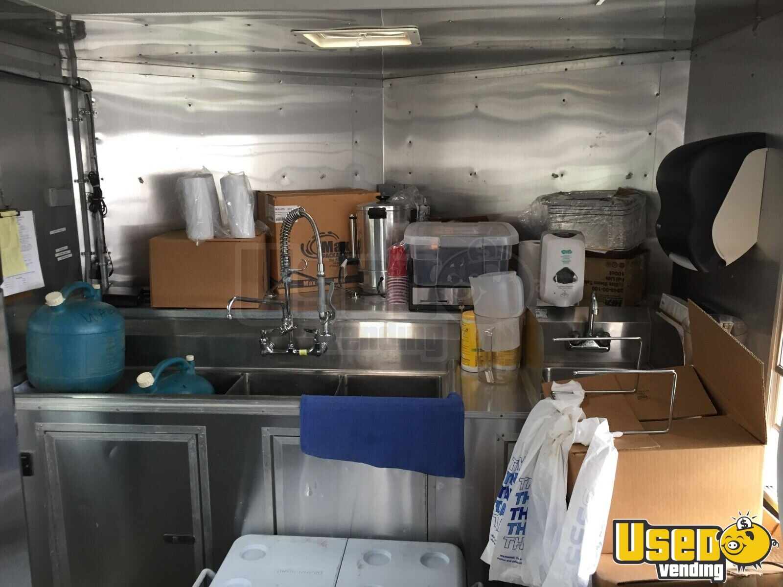 2012 Food Concession Trailer Kitchen Food Trailer Upright Freezer Pennsylvania for Sale - 9