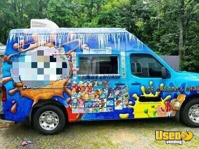 2013 1500 High Top Ice Cream Truck Ice Cream Truck North Carolina Gas Engine for Sale
