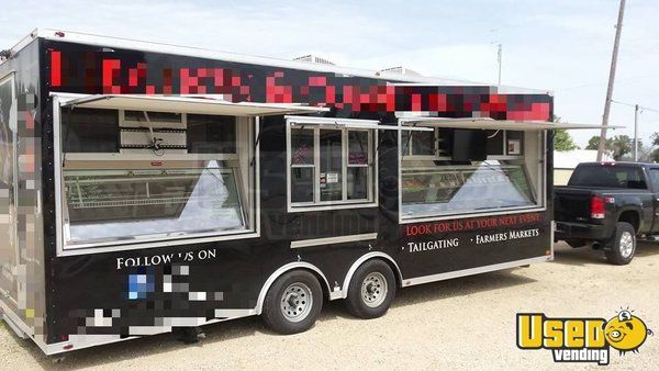 2013 - 8.5' x 24' Mobile Meat Market Butcher Shop Trailer for Sale in Illinois!