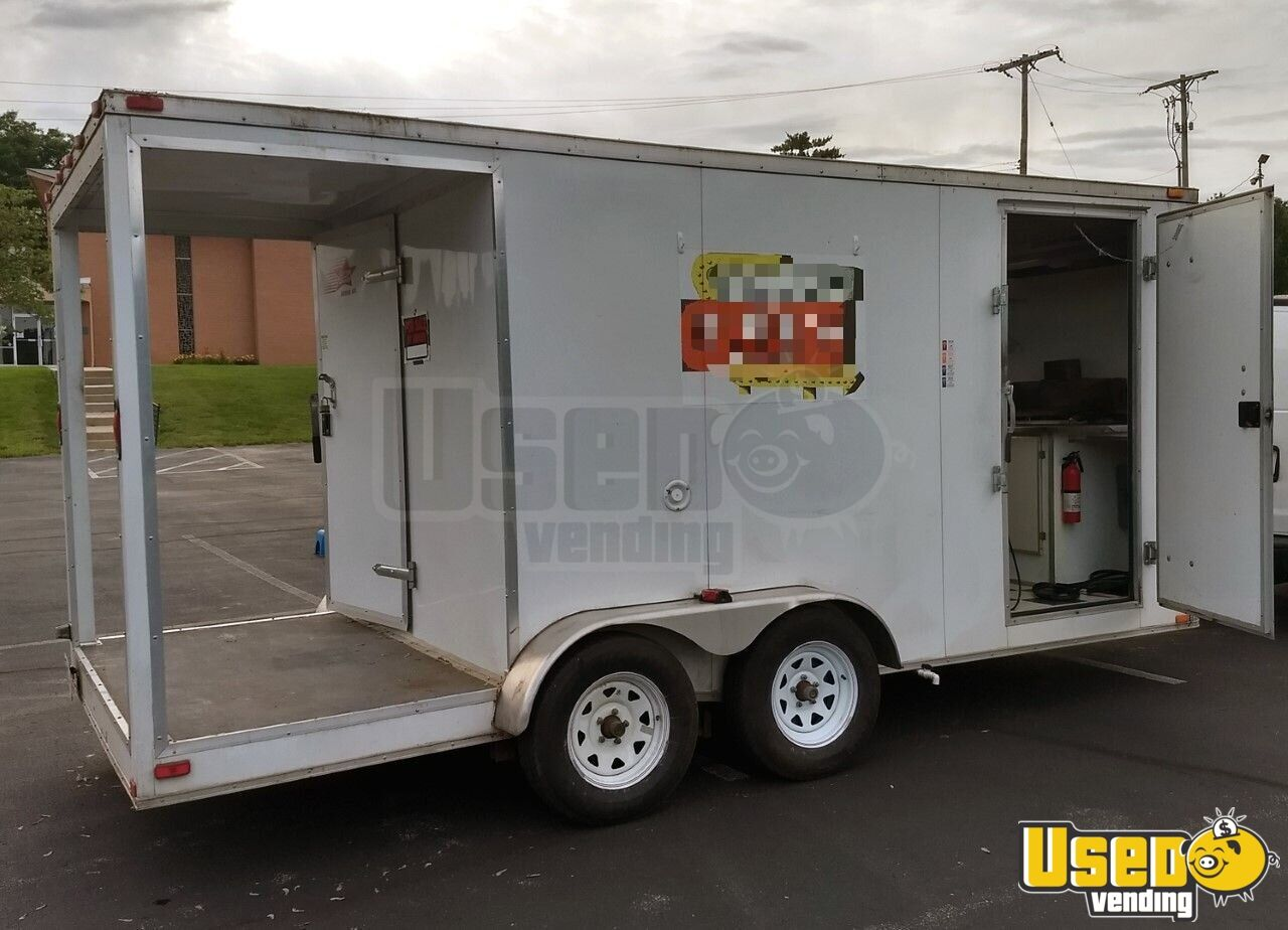 2013 Cargo Bbq Trailer All-purpose Food Trailer Removable Trailer Hitch Missouri for Sale - 3