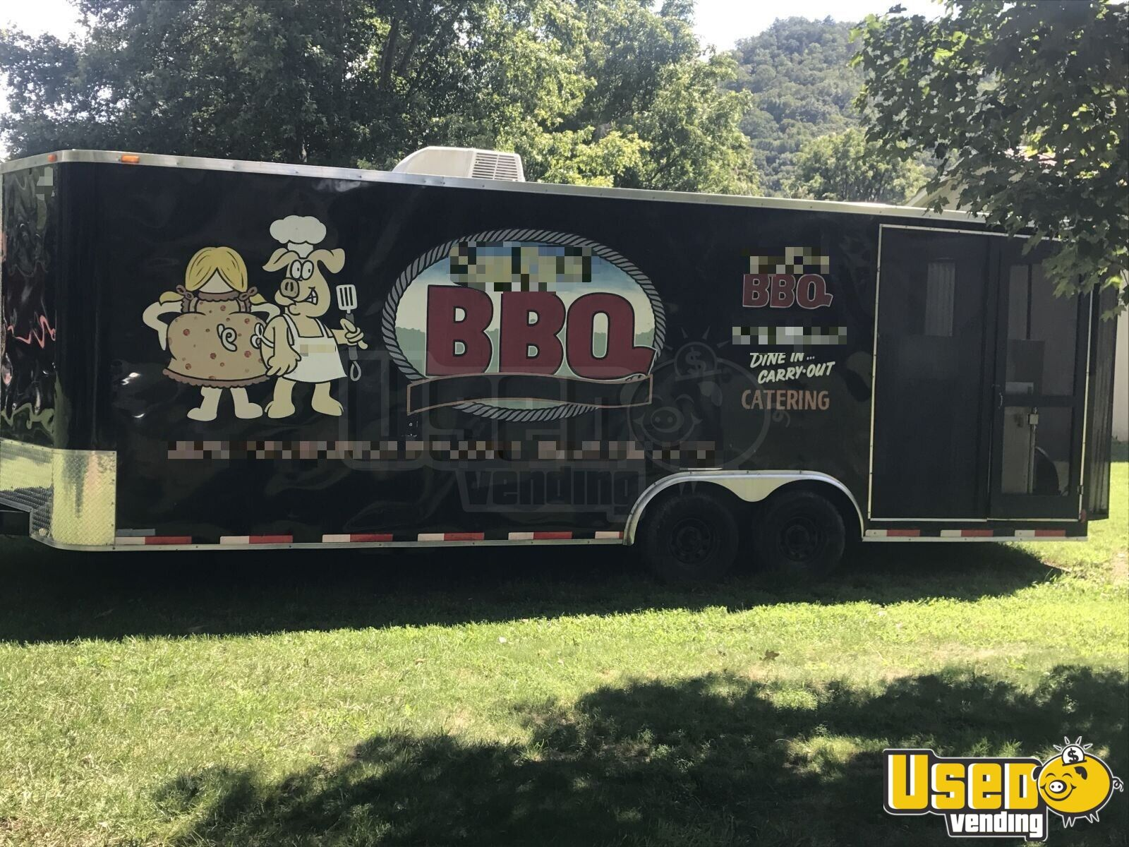 2013 Colonial Custom Built Barbecue Food Trailer Air Conditioning North Carolina for Sale - 2