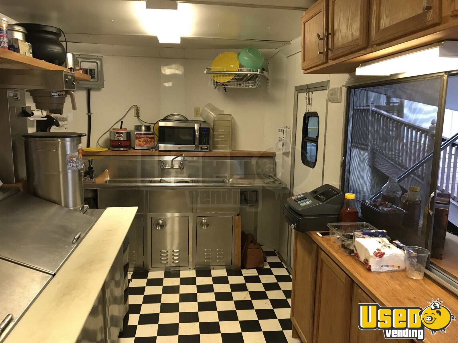2013 Colonial Custom Built Barbecue Food Trailer Awning North Carolina for Sale - 7