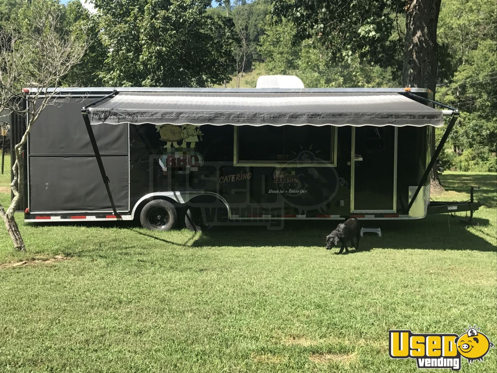 2013 Colonial Custom Built Barbecue Food Trailer Concession Window North Carolina for Sale - 3
