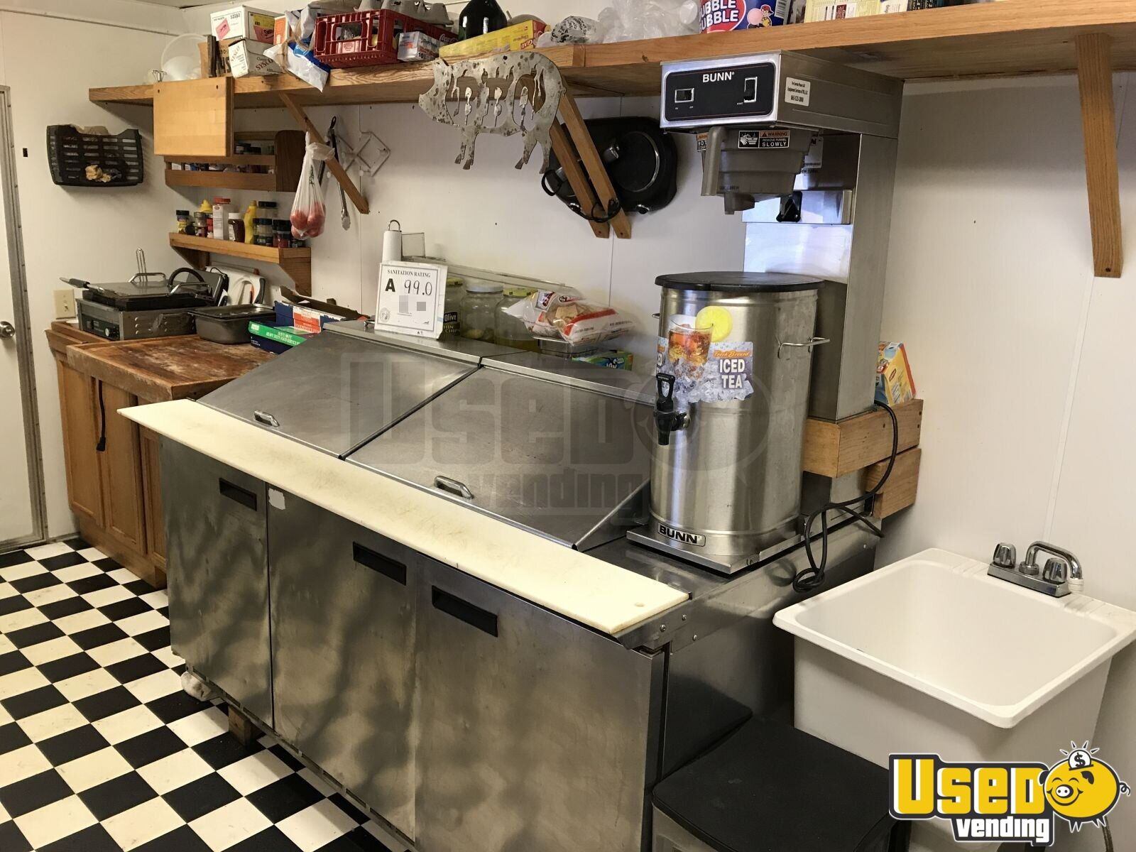 2013 Colonial Custom Built Barbecue Food Trailer Diamond Plated Aluminum Flooring North Carolina for Sale - 8
