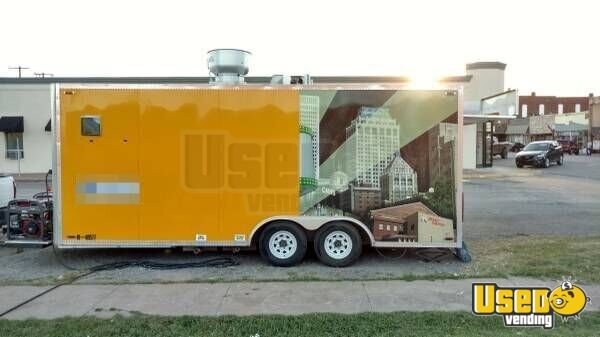2013 Kitchen Food Trailer Air Conditioning Oklahoma for Sale - 2