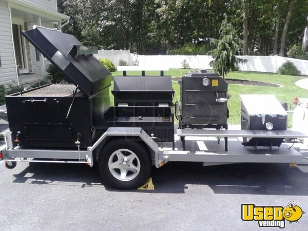 2014 Bq Grills Open Bbq Smoker Trailer New Jersey for Sale