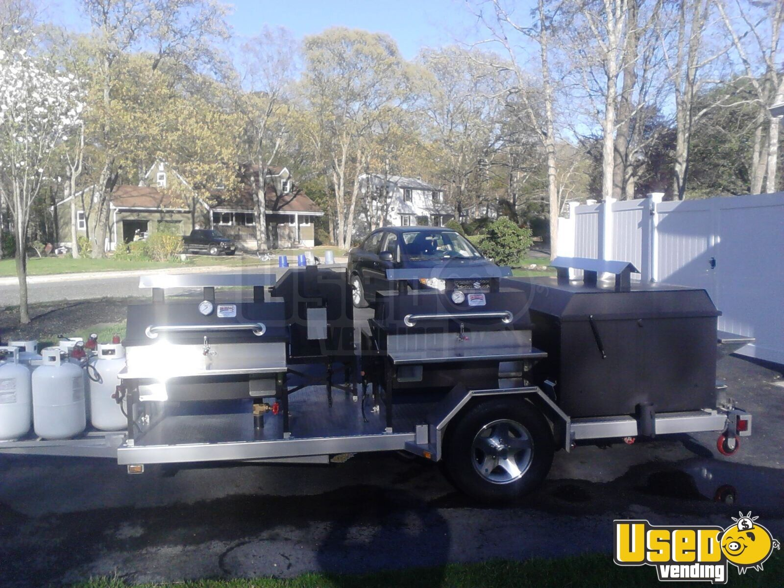 2014 Bq Grills Open Bbq Smoker Trailer Stovetop New Jersey for Sale - 3