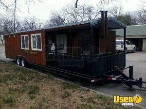 2014 - 8.6' x 40' BBQ Concession Trailer in Texas for Sale!!!