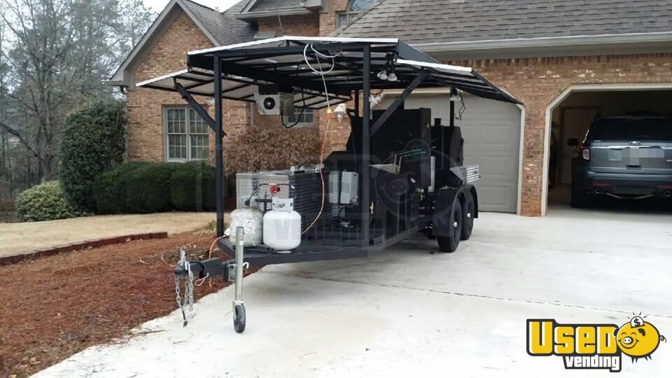 2014 Custom Open Bbq Smoker Trailer Bbq Smoker Georgia for Sale - 4