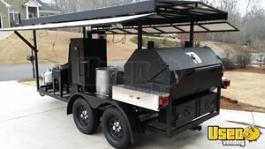 2014 Custom Open Bbq Smoker Trailer Char Grill Georgia for Sale