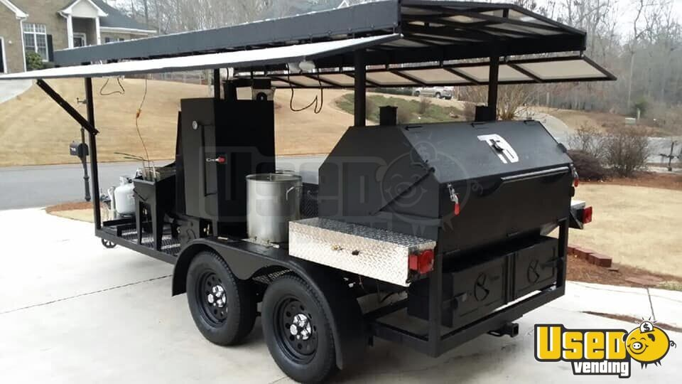 2014 Custom Open Bbq Smoker Trailer Char Grill Georgia for Sale - 3