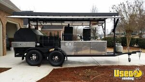2014 Custom Open Bbq Smoker Trailer Flat Grill Georgia for Sale