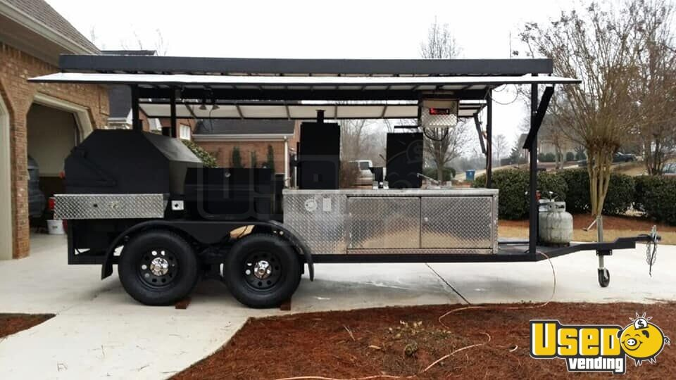 2014 Custom Open Bbq Smoker Trailer Flat Grill Georgia for Sale - 2