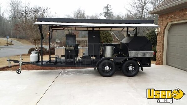 2014 Custom Open Bbq Smoker Trailer Georgia for Sale