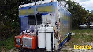 2014 Food Concession Trailer Kitchen Food Trailer Diamond Plated Aluminum Flooring Florida for Sale