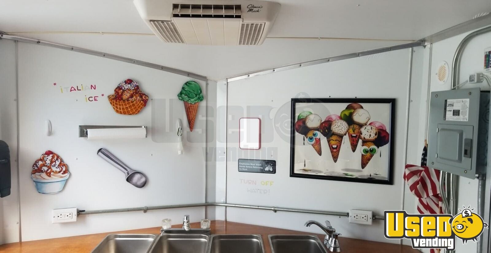2014 Look Ice Cream Trailer Cabinets Florida for Sale - 5