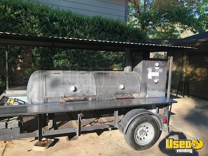 2014 Open Bbq Smoker Trailer Propane Tanks Texas for Sale - 2