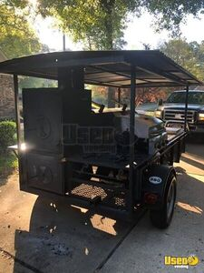 2014 Open Bbq Smoker Trailer Work Table Texas for Sale