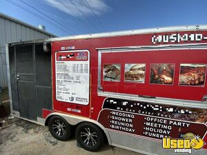 2015 Barbecue Concession Trailer Barbecue Food Trailer Air Conditioning Oklahoma for Sale