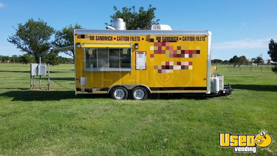 2015 Bestbilt Kitchen Food Trailer Air Conditioning Texas for Sale - 2