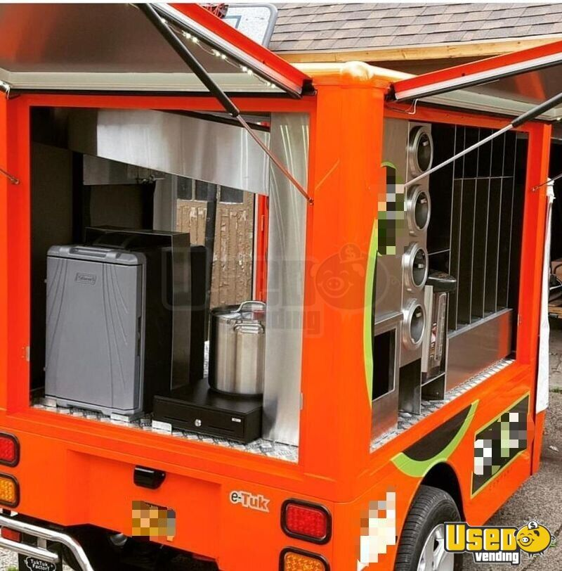 2015 Etuk Vendor Xl Coffee Truck Diamond Plated Aluminum Flooring New York for Sale - 4