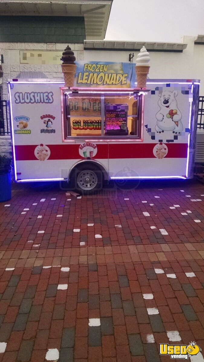 2015 Ice Cream Trailer Deep Freezer Florida for Sale - 7