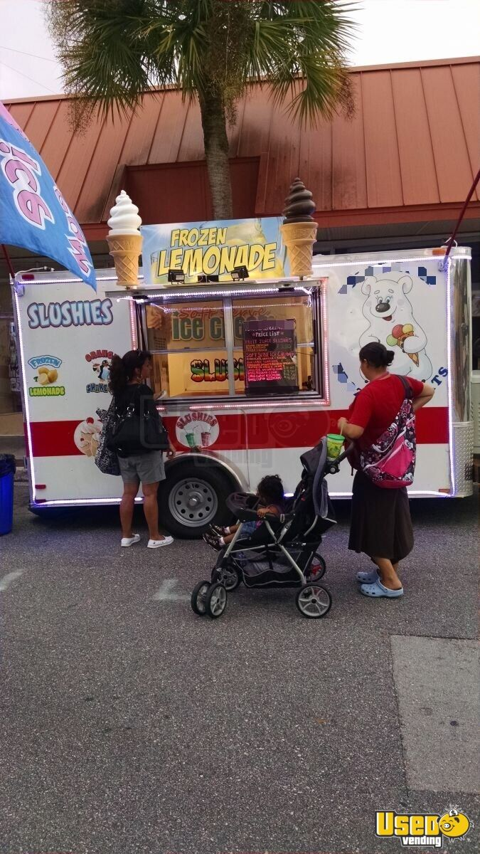 2015 Ice Cream Trailer Soft Serve Machine Florida for Sale - 9