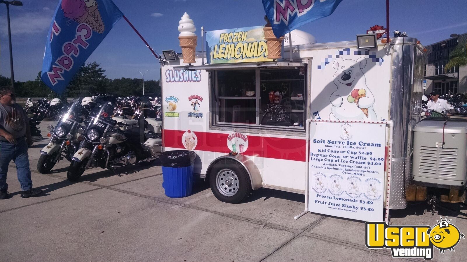 2015 Ice Cream Trailer Spare Tire Florida for Sale - 3