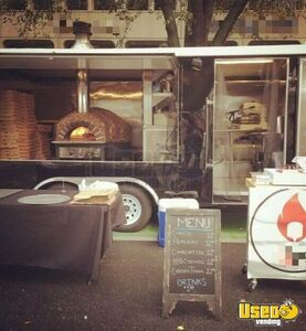 2015 Pizza Concession Trailer Pizza Trailer Diamond Plated Aluminum Flooring California Gas Engine for Sale