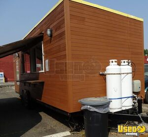 2015 Tandem Axle Flatbed All-purpose Food Trailer Cabinets Oregon for Sale