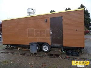 2015 Tandem Axle Flatbed All-purpose Food Trailer Concession Window Oregon for Sale