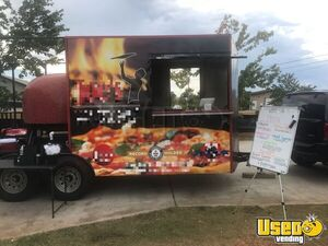 2016 140cm Wood Fired Pizza Concession Trailer Pizza Trailer Concession Window Alabama for Sale