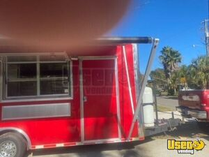 2016 Barbecue Concession Trailer Barbecue Food Trailer Stainless Steel Wall Covers Florida for Sale