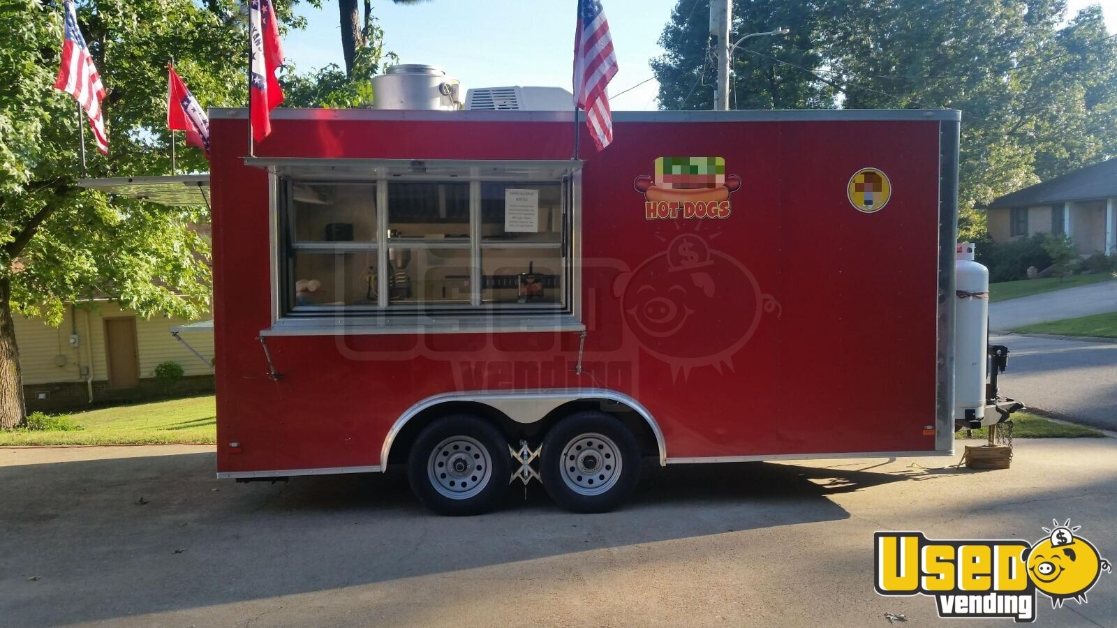2016 Food Concession Trailer Kitchen Food Trailer Concession Window Arkansas for Sale - 3